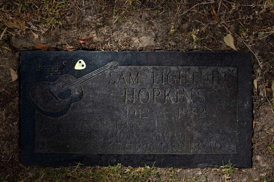 Lightnin' Hopkins' grave site at Forest Park Lawndale Cemetery. Photo: Eric Kayne, Freelance / Freelance