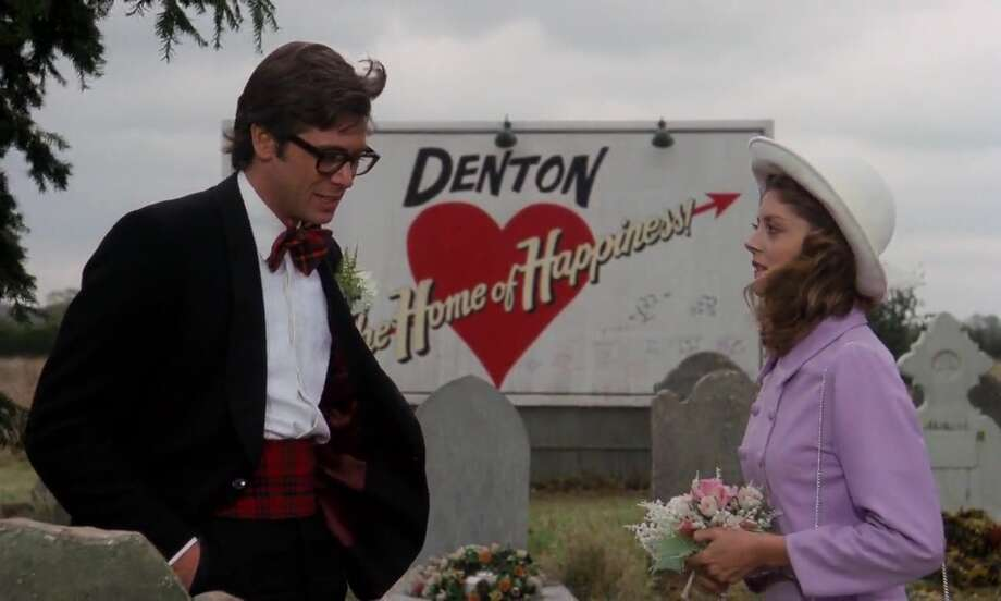 "Barry Bostwick and Susan Sarandon in ""The Rocky Horror Picture Show."""