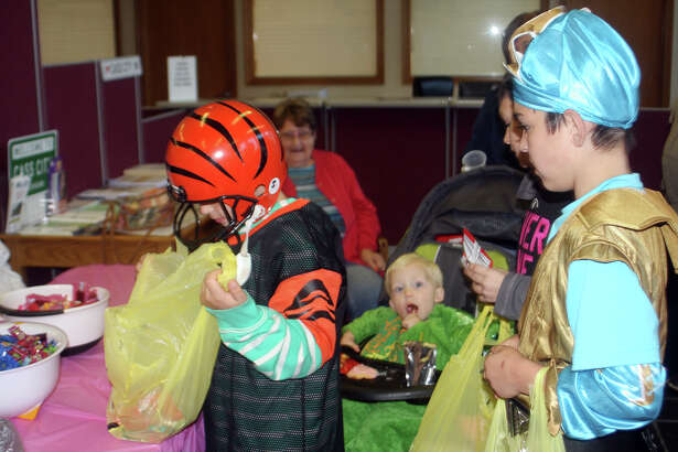 Folks of all ages came out Tuesday for Pink-Or-Treat in Cass City.