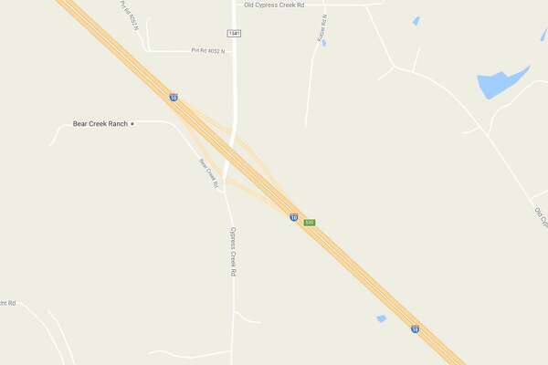 A woman's body was found near the intersection of Cypress Creek Road and Interstate 10 near Comfort, Texas.