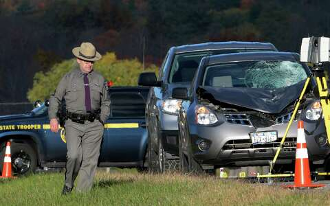 Trooper dies after being hit by car in Wilton - Times Union