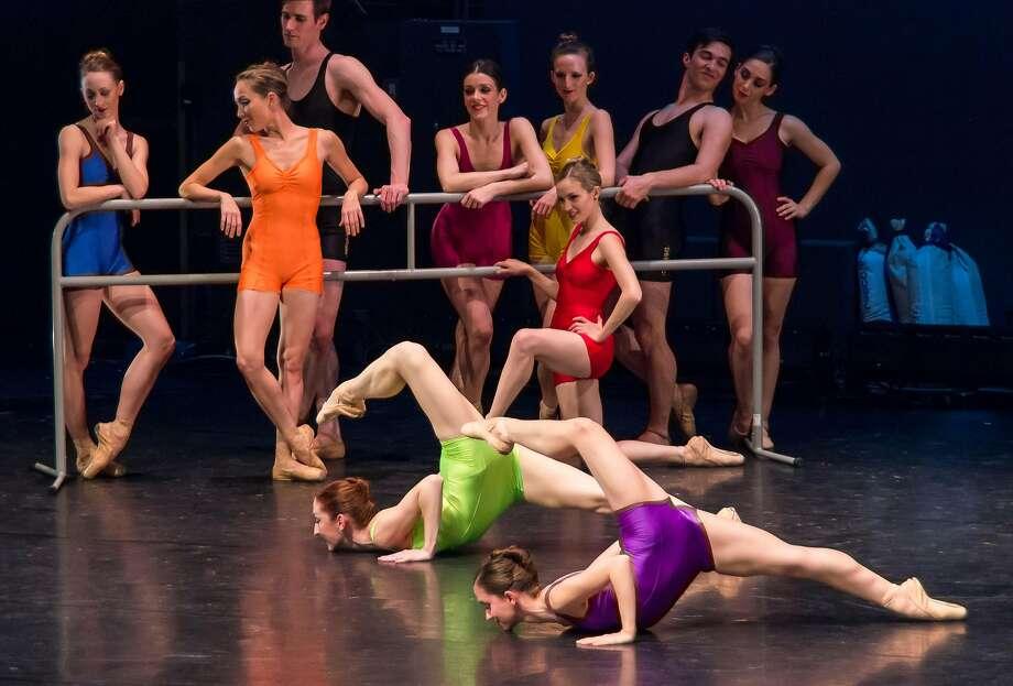 "Julie Giordano and Coreen Danaher in Menlowe Ballet's ""Tribute."" Photo: John Gerbetz"