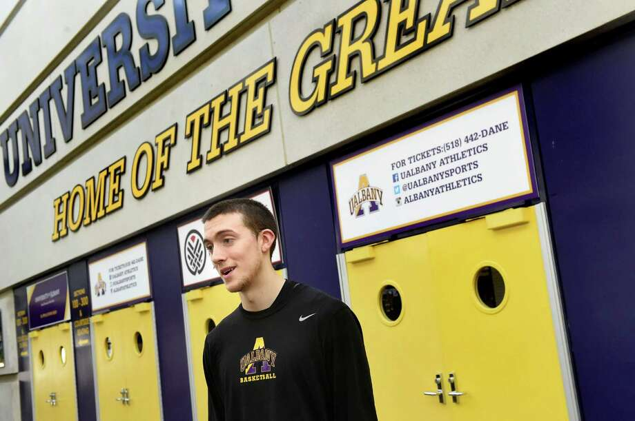 UAlbany basketball player Joe Cremo on Wednesday, March 9, 2016, at UAlbany in Albany, N.Y. (Cindy Schultz / Times Union) Photo: Cindy Schultz / Albany Times Union