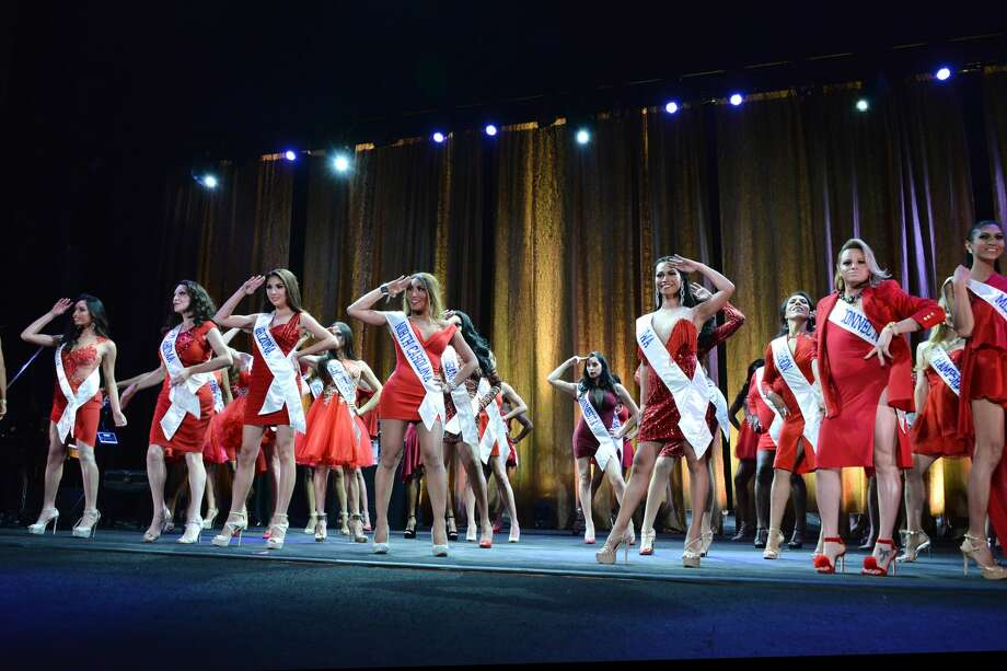 Pageant participants appear on stage at the TransNation Festival's 15th Annual Queen USA Transgender Beauty Pageant at The Theatre at Ace Hotel on October 22, 2016 in Los Angeles, California. Photo: Araya Diaz