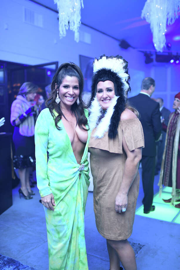 "Claudia Sierra, left, at the ""Holly ween"" at Bar Bleu. Photo: Daniel Ortiz"