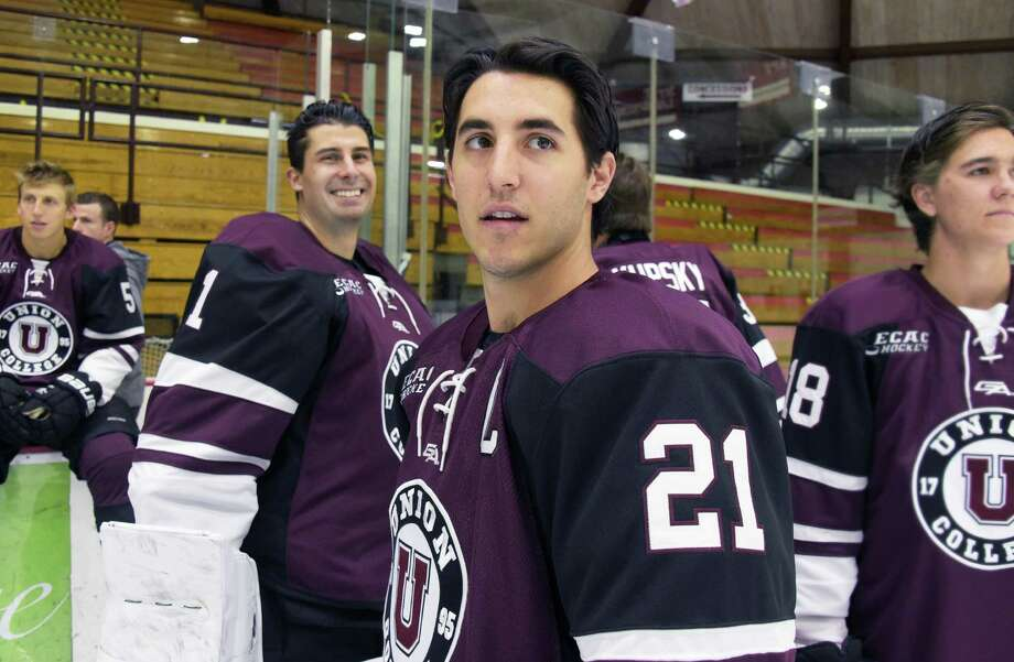 Mike Vecchione, a senior captain, during Union College hockey media day Thursday Sept. 29, 2016 in Schenectady, NY.  (John Carl D'Annibale / Times Union) Photo: John Carl D'Annibale / 40038212A