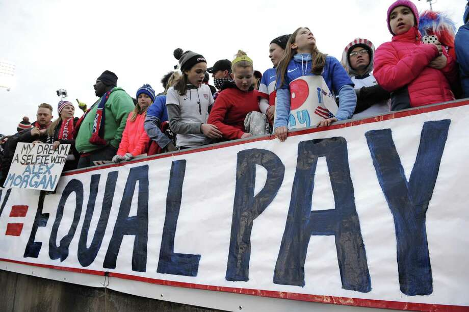 The World Economic Forum's annual Global Gender Gap Report found that the global gender pay gap will not be closed for another 170 years if current trends continue. Photo: Jessica Hill /Associated Press / FR125654 AP