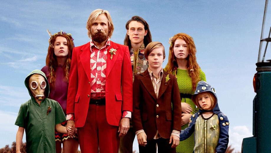 """Bleecker Street Media Viggo Mortensen, center, stars in """"Captain Fantastic."""""""