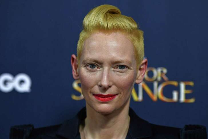 "Tilda Swinton arrives at a launch event for ""Doctor Strange"" last week at Westminster Abbey in London."