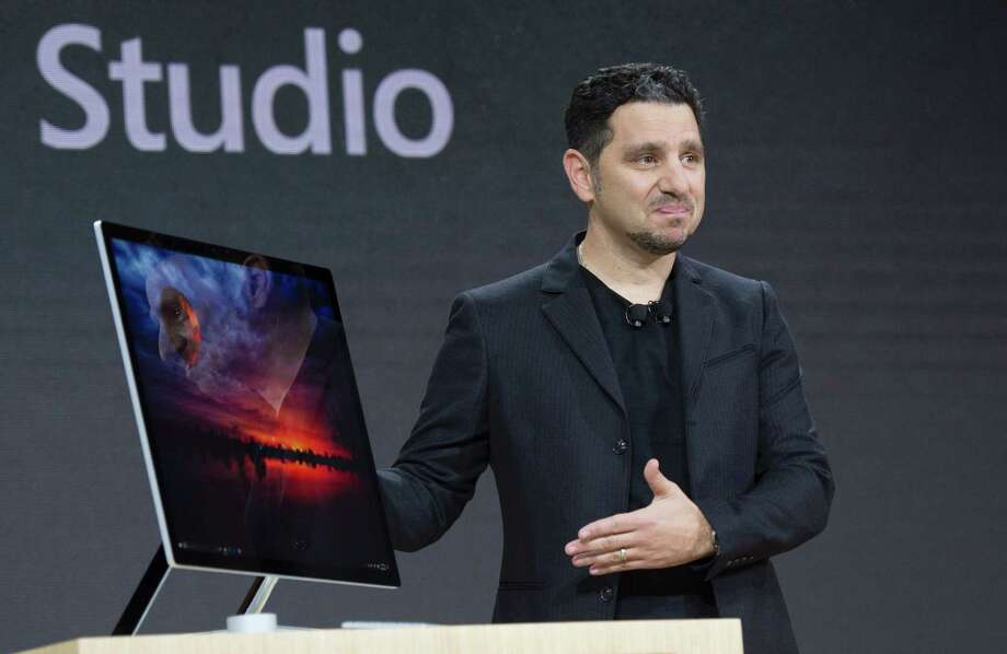 Microsoft Corporate VP of Devices, Panos Panay introduces Microsoft Surface Studio at a Microsoft news conference October 26, 2016 in New York. / AFP PHOTO / DON EMMERTDON EMMERT/AFP/Getty Images Photo: DON EMMERT, AFP/Getty Images / AFP or licensors