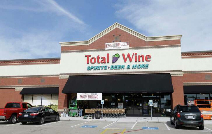 An exterior view of Total Wine, 7640 Cypress Creek Parkway, is shown Tuesday, Oct. 25, 2016, in Houston.  Total Wine is a new-to-market liquor store that will opening soon in the Willowbrook area. ( Melissa Phillip / Houston Chronicle )