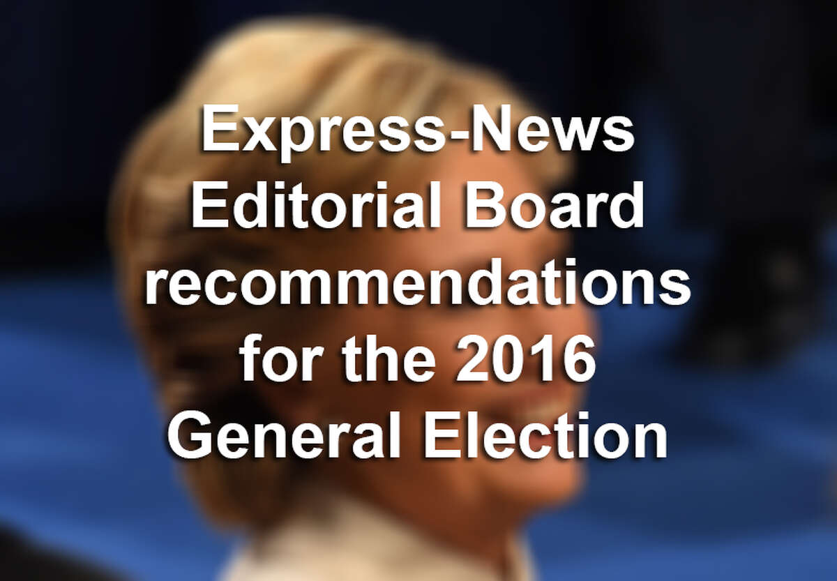 San Antonio Express-News Editorial Board endorsements for the 2016 General Election