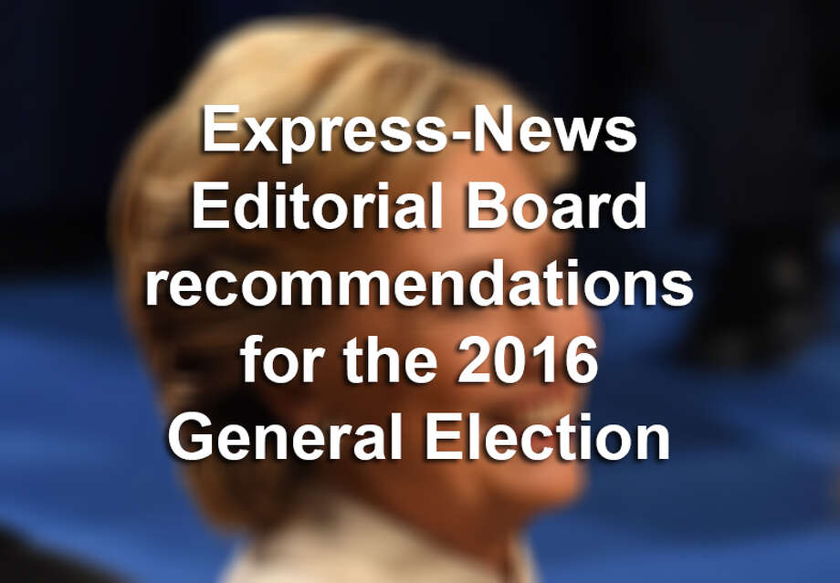 San Antonio Express-News Editorial Board endorsements for the 2016 General Election Photo: ROBYN BECK, Staff / AFP/Getty Images