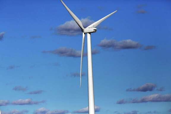 COLORADO CITY, TX - JANUARY 21:  Wind turbines are viewed at a wind farm on January 21, 2016 in Colorado City, Texas.   (Photo by Spencer Platt/Getty Images)