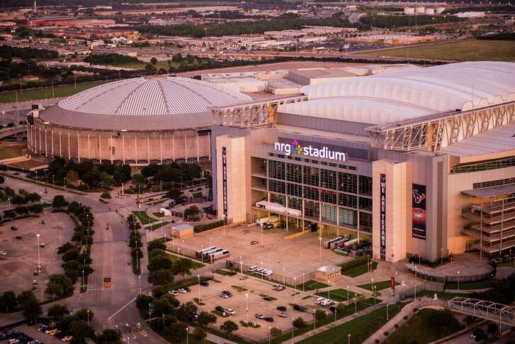 Aerial view of the Astrodome and NRG Stadium on Wednesday, Aug. 20, 2014, in Houston. ( Smiley N. Pool / Houston Chronicle )