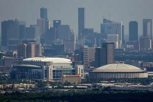 Aerial view of NRG Stadium, the Astrodome, downtown Houston and the Texas Medical Center Wednesday, September 7, 2016. ( Michael Ciaglo / Houston Chronicle )