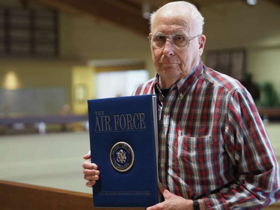 Bill Wilkins, 85, flew missions over North Korea in 1953. He now reviews books and resides at Blue Skies of Texas retirement home in San Antonio. Photo: San Antonio Express News