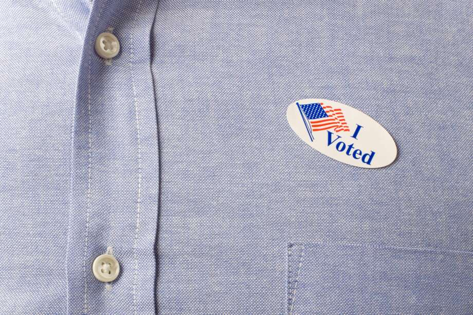 """Bexar County is asking a high school student to design their first-ever """"I Voted"""" sticker for the 2020 election cycle. Photo: Suzifoo/Getty Images"""