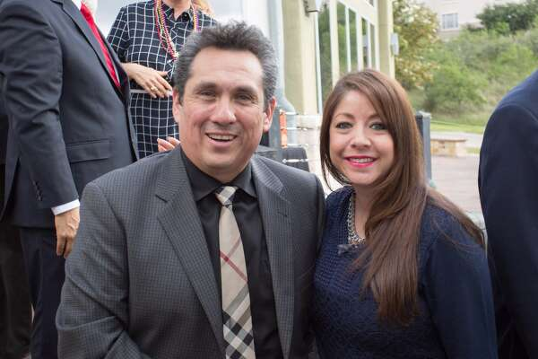 Miguel Herrera and Veronica from Scott's Inspections. Courtesy photo provided by Miguel Herrera Realty Group.