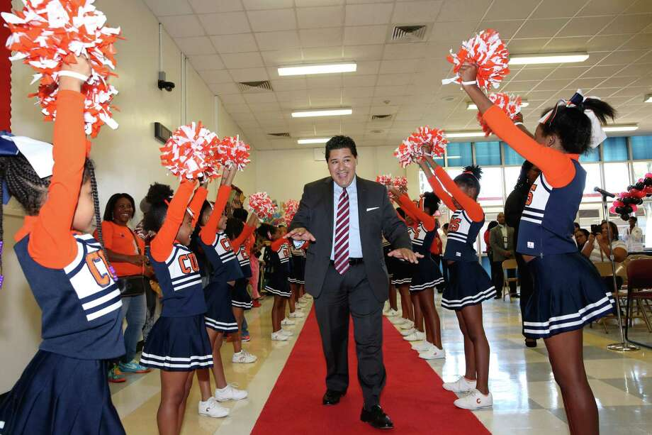 Richard Carranza, HISD's new superintendent, paints an ambitious picture of what a graduate from the district should be, including being at least bilingual.  Photo: Yi-Chin Lee, Staff / © 2016  Houston Chronicle