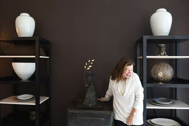 Renowned interior designer Francine Gardner in Interieurs, her new Greenwich based showroom, in Cos Cob, Conn., Oct. 26, 2016. Gardner has been setting trends in interior design for many years. She specializes in lighting but has a comprehensive design service and represents several cutting edge artists from around the world.