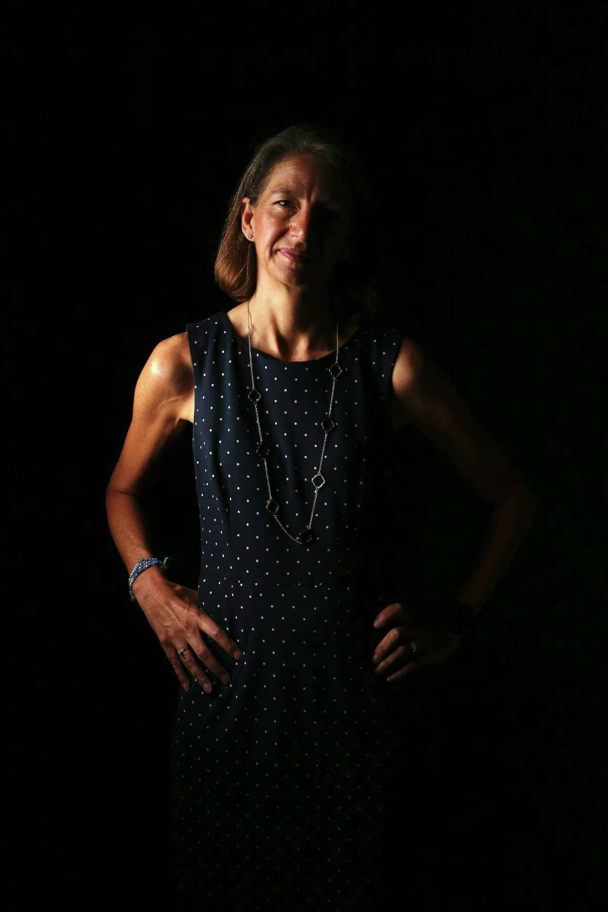 Dr. Rebecca Richards-Kortum poses for a photo at Rice University Friday, Oct. 7, 2016, in Houston. (Yi-Chin Lee / Houston Chronicle )