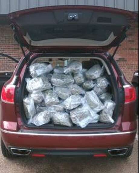 The Department of Public Safety seized more than 50 pounds of marijuana on Oct. 26, 2016. The marijuana was being transported to Houston from Santa Anna, California. Photo: Texas Department Of Public Safety