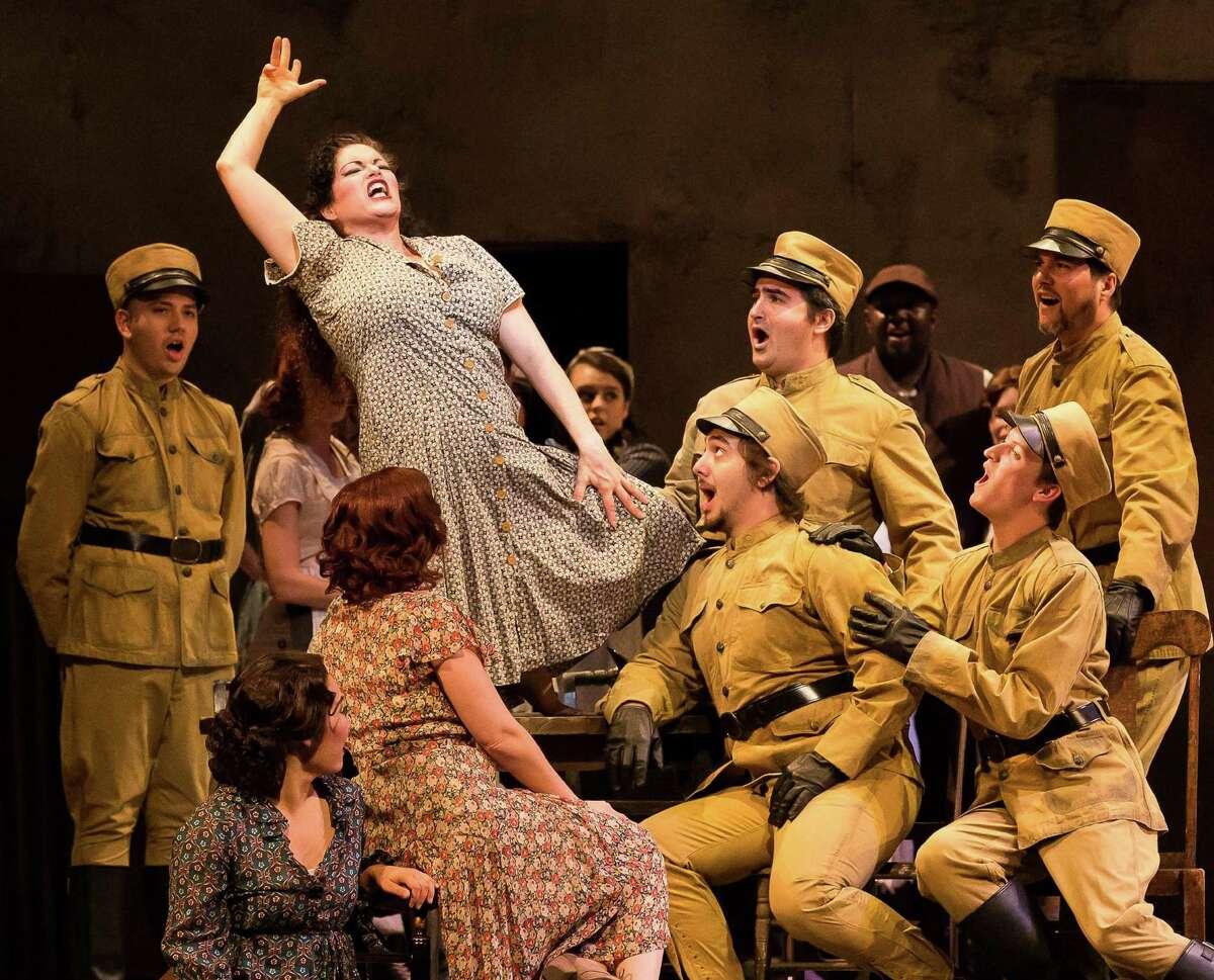 "Kirstin Chavez appears in an Opera San Antonio dress rehearsal for ""Carmen."""