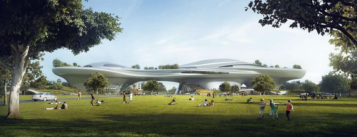 The conceptual design for the Los Angeles version of the Lucas Museum of Narrative Art. It would go in Exposition Park next to Los Angeles Memorial Coliseum and is designed by Ma Yansong of MAD Architects, a firm founded in Beijing in 2004. Legendary filmmaker George Lucas also has MAD working on a San Francisco version of the museum, and is expected to make a final decision in early 2017 on which city to work with.