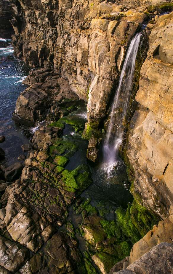 Looking for great post-rain hikes? Heavy rains have brought this waterfall near Fort Ross back to life. You can see it at Salt Point State Beach. Photo: George Rose, Getty Images
