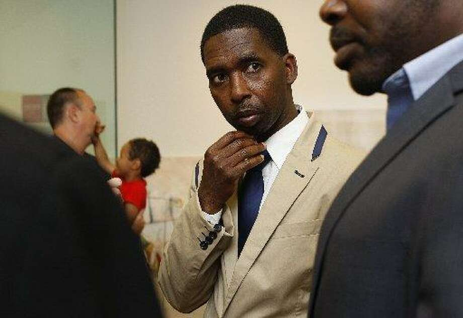 Filmmaker Kevin Epps is seen on Friday, July 8, 2011 after being named as a de Young Artist Fellow. The San Francisco District Attorney declined to file charges against Epps after he was arrested on Monday for a killing inside his Glen Park home. Photo: Liz Hafalia / The Chronicle / /