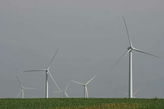 The Pioneer Prairie Wind Farm is in northeastern Iowa near the state's border with Minnesota.