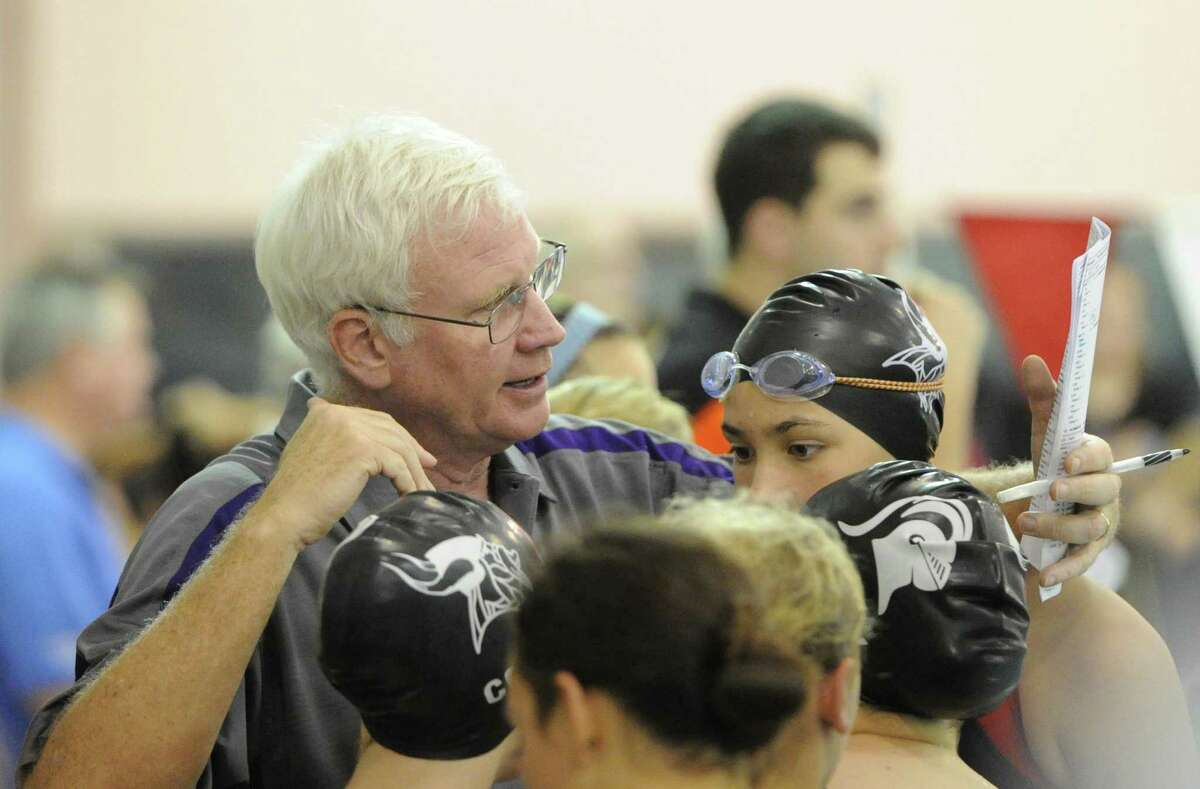 Longtime Westhill/Stamford swim coach Rick Lewis has been placed on leave.