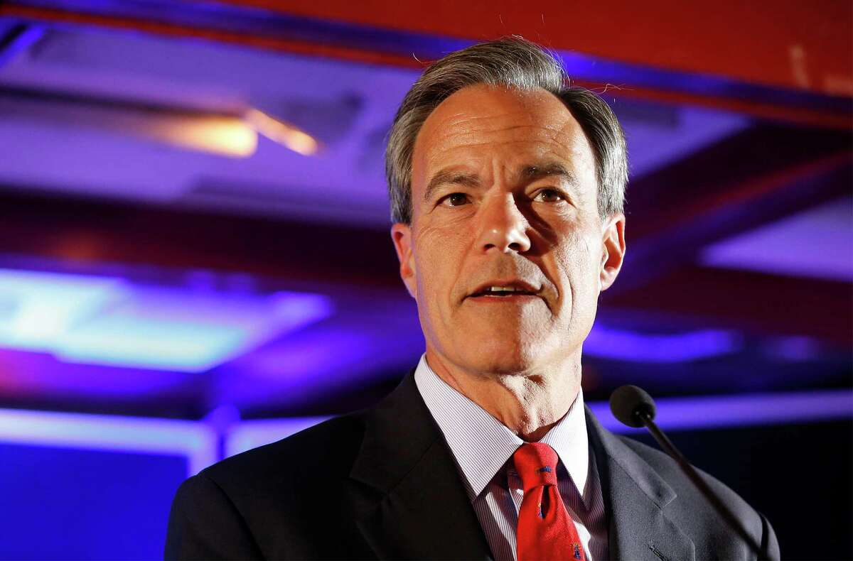 Texas House Speaker and District 121 representative Joe Straus addresses supporters at his re-election watch party at the Barn Door Restaurant on Tuesday, Mar. 1, 2016.(Kin Man Hui/San Antonio Express-News)