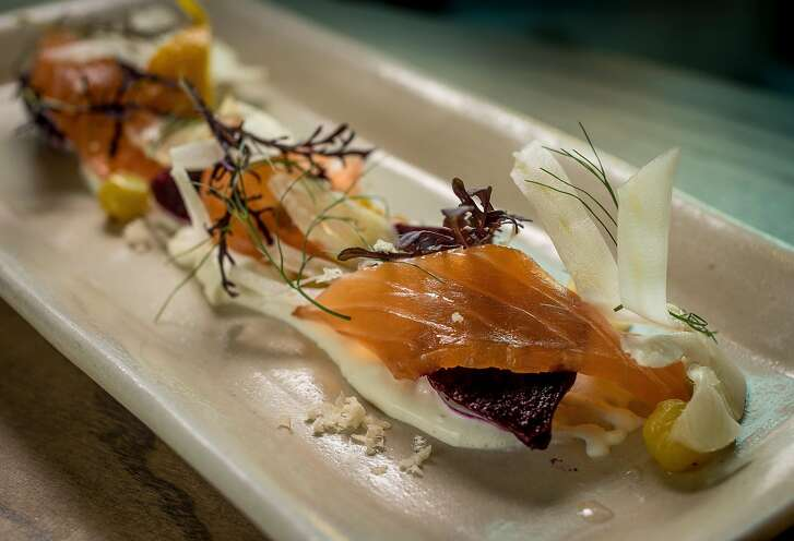 Cured Salmon Salad at Trestle in San Francisco, Calif. is seen on October 26th, 2016.