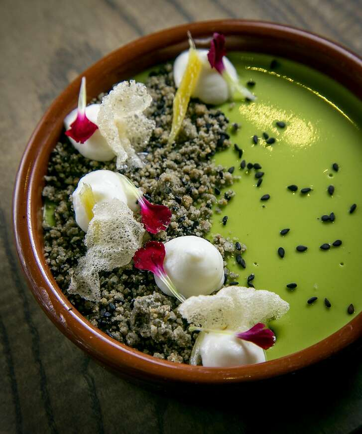 The Green Tea Custard at Trestle in San Francisco, Calif. is seen on October 26th, 2016.