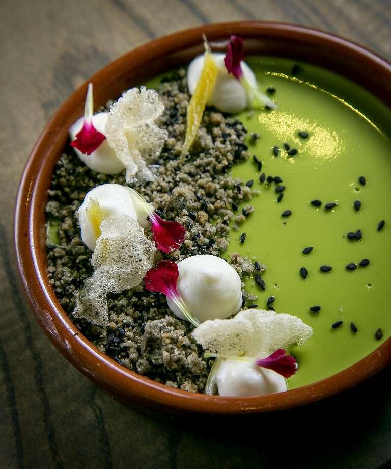 Green tea custard at Trestle. Photo: John Storey, Special To The Chronicle