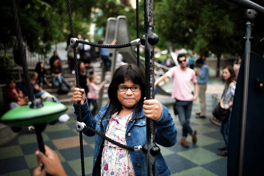 "Sarai Gonzalez, 11, who starred in the viral video ""Soy Yo"" or ""That's Me,"" by the Colombian group Bomba Estéreo, has, in record time, gone from unknown little girl to Latina icon, all thanks to the viral music video, in which Sarai plays a nerdy tween who confronts bullies. Photo: HILARY SWIFT, STR / NYTNS"