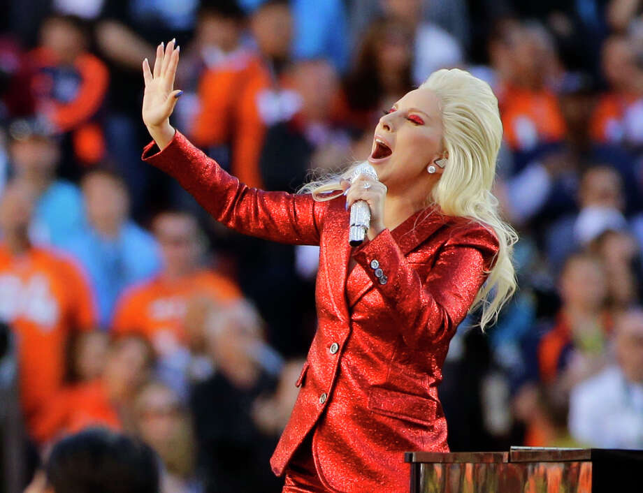 "FILE - In this Feb. 7, 2016 file photo, Lady Gaga sings the national anthem before the NFL Super Bowl 50 football game between the Denver Broncos and the Carolina Panthers in Santa Clara, Calif. Lady Gaga released her latest album, ""Joanne,"" on Friday, Oct. 21. (AP Photo/Jae C. Hong, File) Photo: Jae C. Hong, STF / Copyright 2016 The Associated Press. All rights reserved."