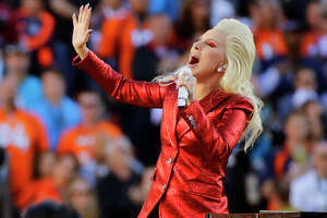 "FILE - In this Feb. 7, 2016 file photo, Lady Gaga sings the national anthem before the NFL Super Bowl 50 football game between the Denver Broncos and the Carolina Panthers in Santa Clara, Calif. Lady Gaga released her latest album, ""Joanne,"" on Friday, Oct. 21. (AP Photo/Jae C. Hong, File)"