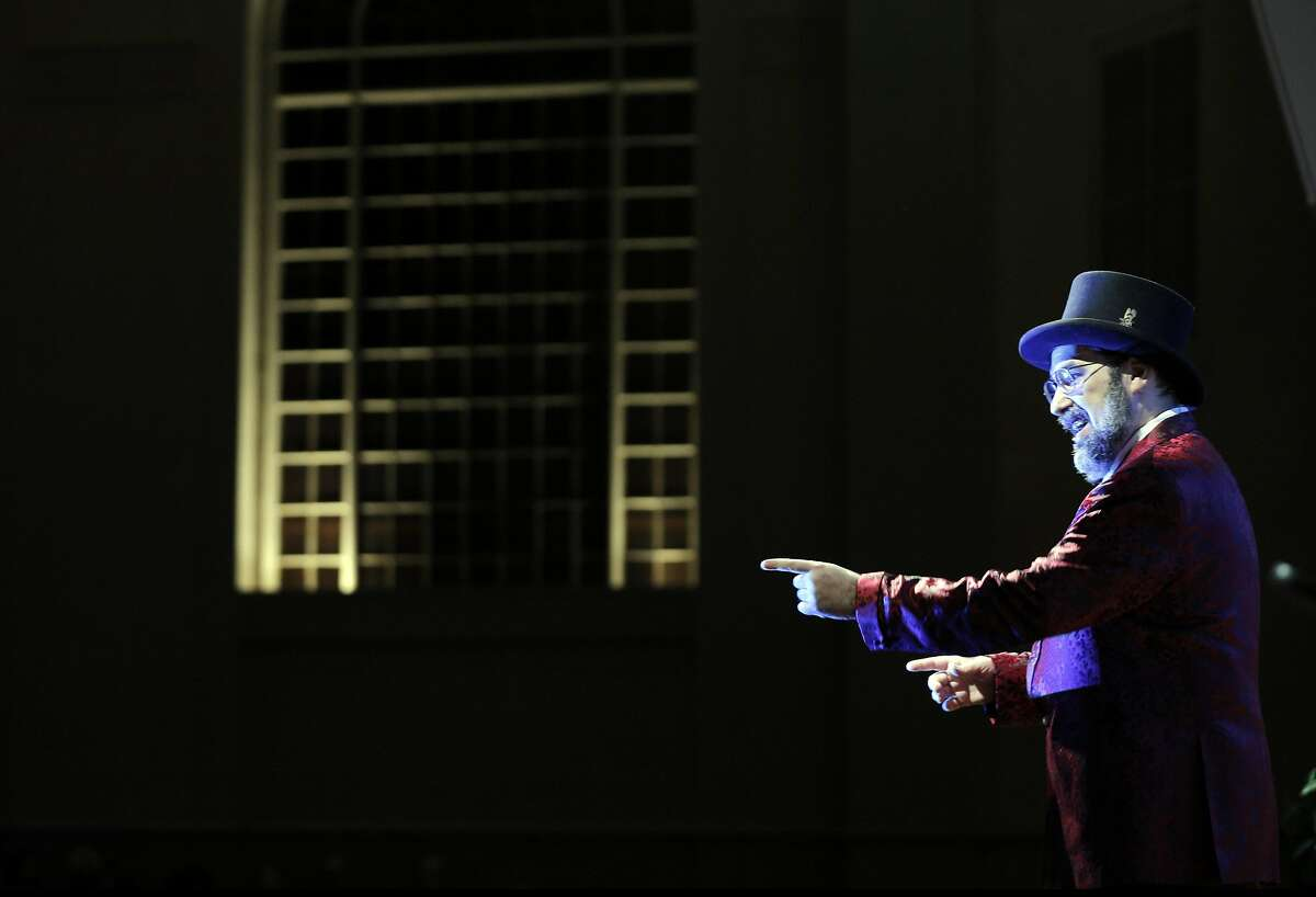Jason Scott, MC'd the event during a 20th anniversary celebration of the Internet Archive in San Francisco, Calif., on Wednesday, October 26, 2016.
