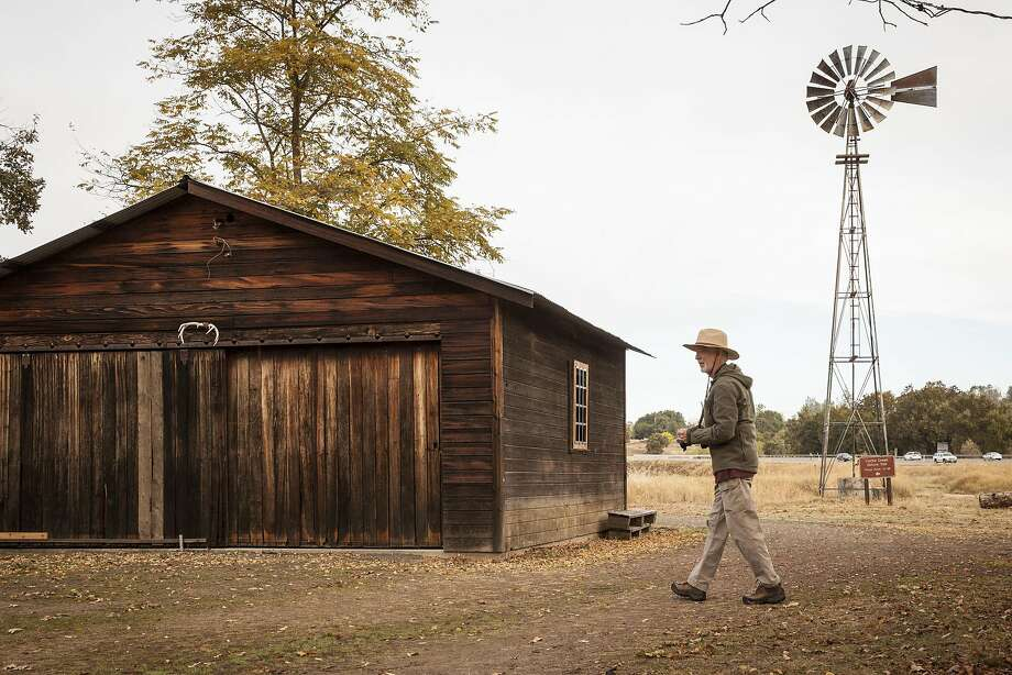 Gary Jefferson, explores the historic structure at the Anderson Marsh State Park in Lower Lake, California, USA 22 Oct 2016. (Peter DaSilva/Special to The Chronicle) Photo: Peter DaSilva, Special To The Chronicle