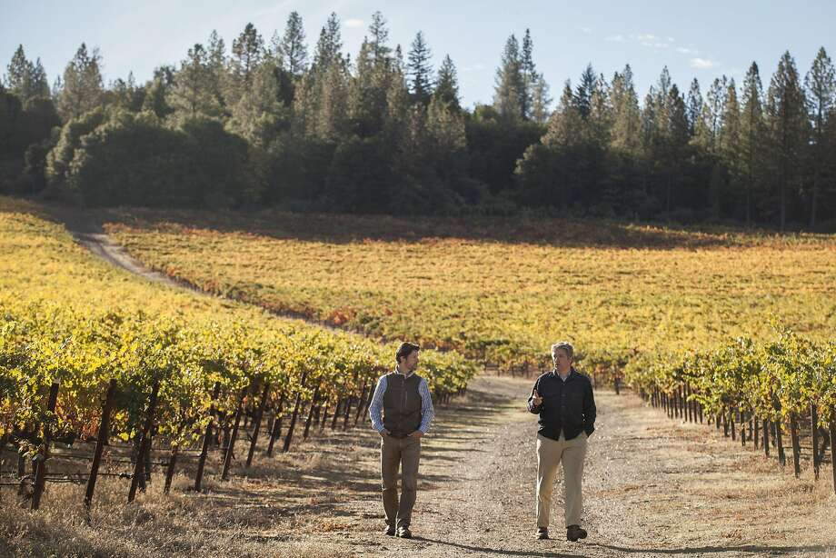 Winery owners Arpad and Peter Molnar at Obsidian Ridge. Photo: Peter DaSilva, Special To The Chronicle