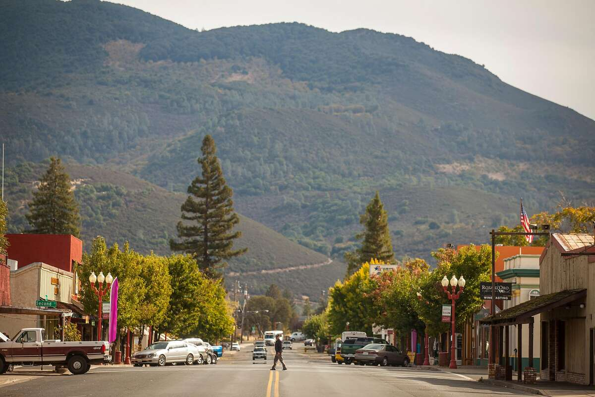Main Street of Kelseyville, California, USA 22 Oct 2016. (Peter DaSilva/Special to The Chronicle)