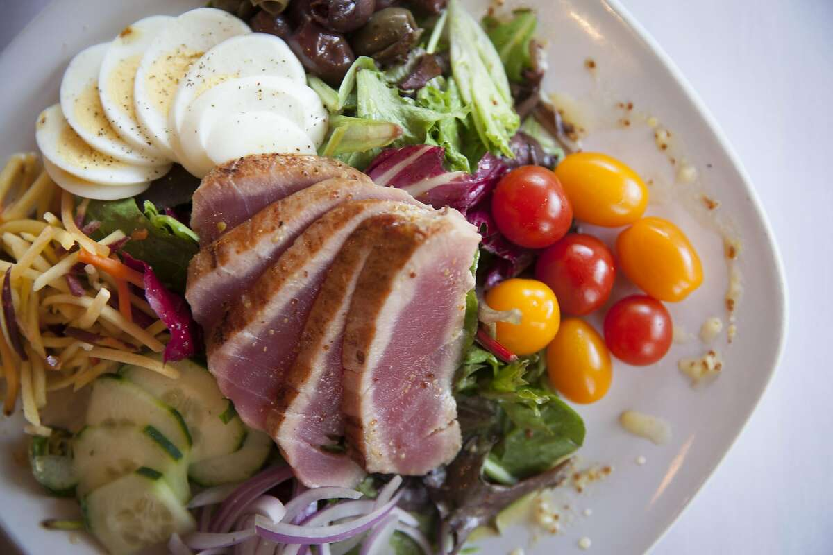Nicoise Salad at the Saw Shop Galley Bistro in Kelseyville, California, USA 22 Oct 2016. (Peter DaSilva/Special to The Chronicle)