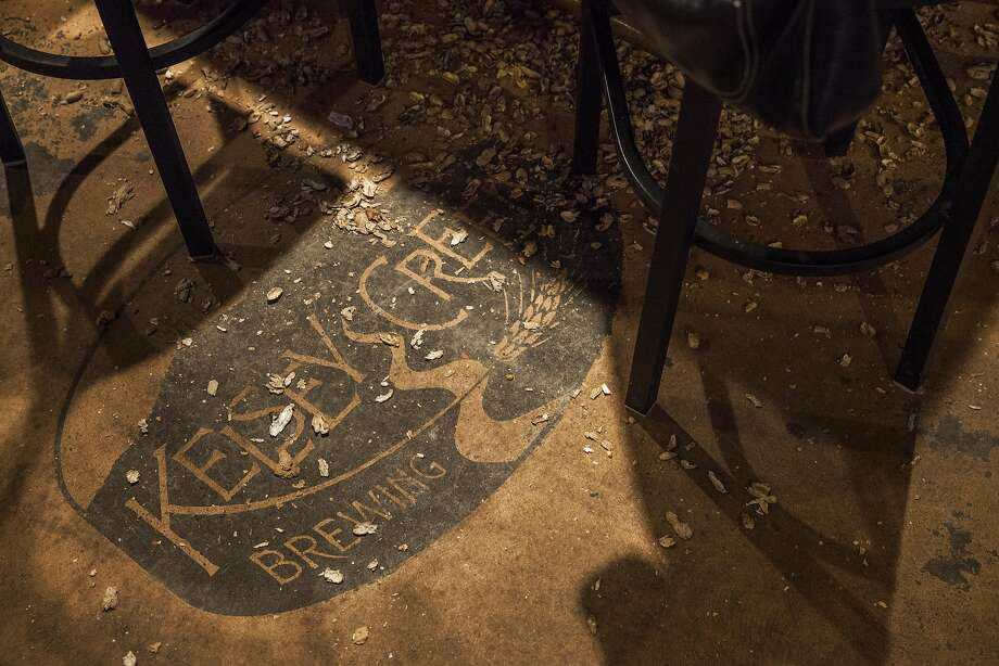 Peanut shells litter the floor at Kelsey Creek Brewing. Photo: Peter DaSilva, Special To The Chronicle