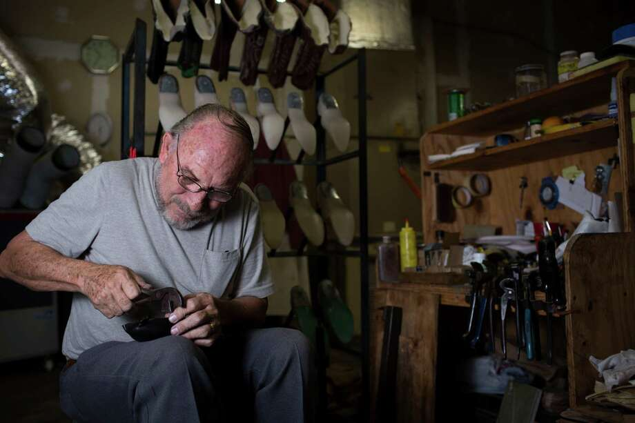 Ramiro Gonzalez, assembles a boot at the Maidaé•s Custom Footwear shop. Maida's, is a Houston-based custom boot maker which origins can be traced back to the 1880s. The company is expanding with two retail locations. Thursday, Sept. 22, 2016, in Houston. ( Marie D. De Jesus / Houston Chronicle ) Photo: Marie D. De Jesus, Staff / © 2016 Houston Chronicle