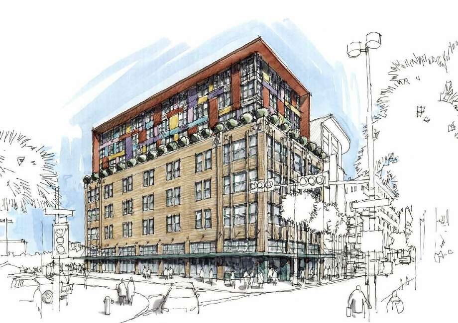 A development group from Memphis had planned to renovate the Burns Building into a boutique hotel. Photo: Historic And Design Review Commission Agenda