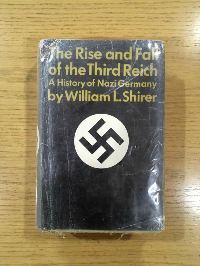 This copy of The Rise and Fall of the Third Reich was returned to the Guilderland Public Library on Oct. 26, 2016. It was 42 years overdue.