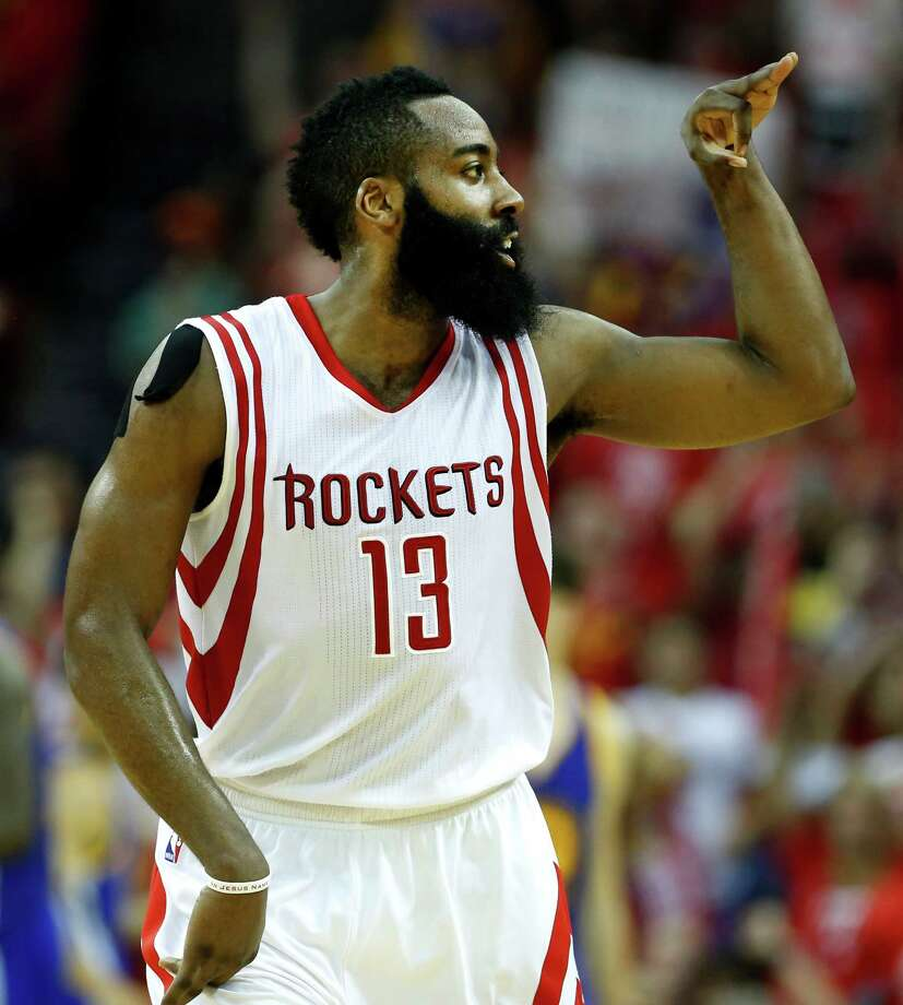 James Harden and the Rockets are looking to celebrate much more this season after a 2015-16 campaign marked by erratic play and team chemistry best described as dysfunctional. Photo: James Nielsen, Staff / © 2015  Houston Chronicle